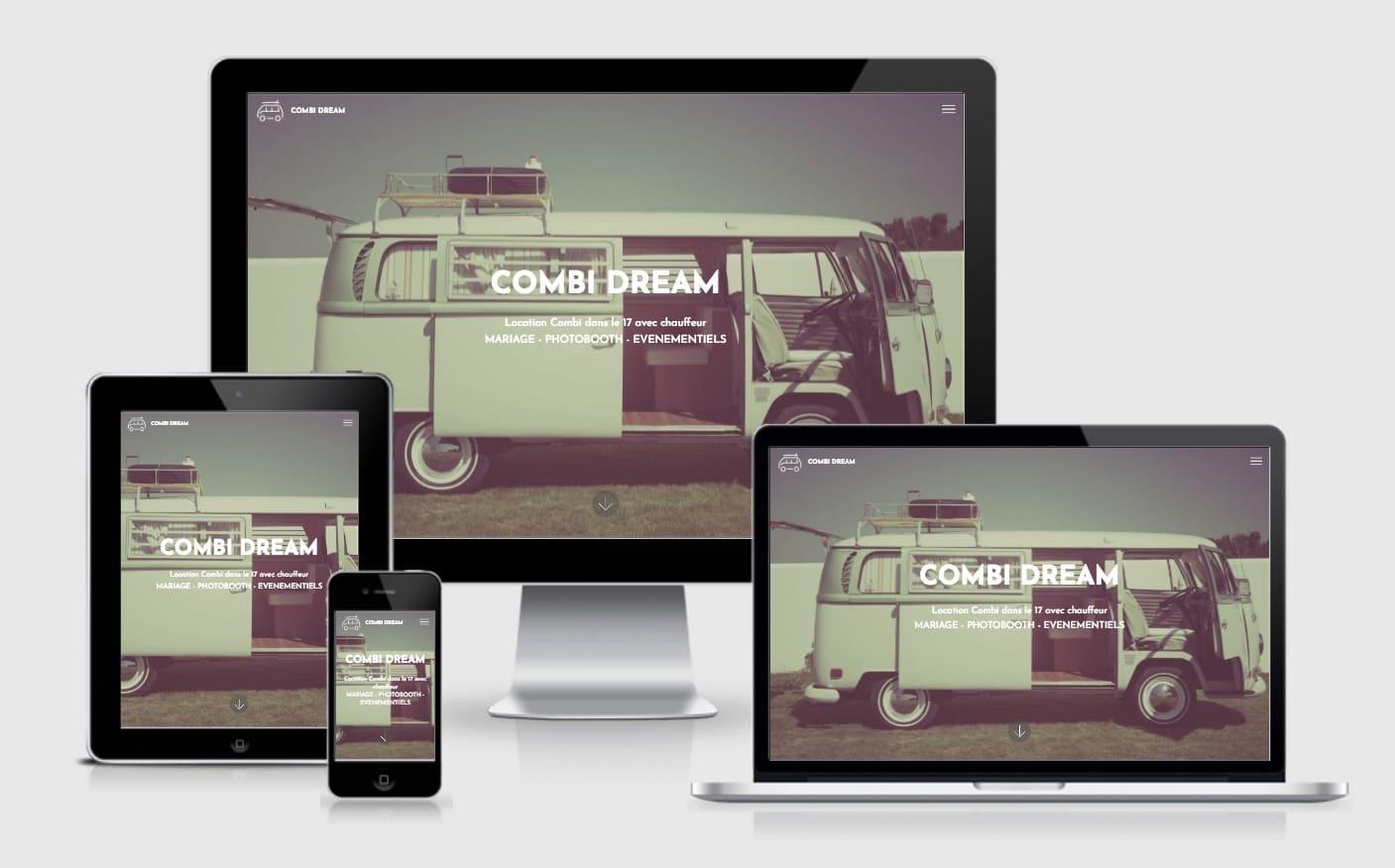 creation site internet location combi pour mariage